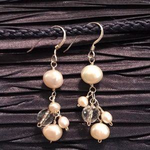 🎁SILPADA W0978 Sterling Pearl Cha Cha Earrings